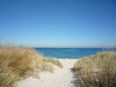 Fremantle Beach, Sand, Sea, Ocean, Family, Swimming