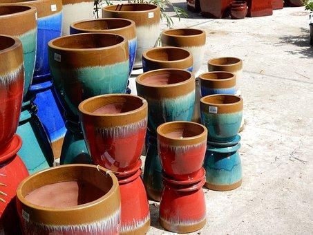Pots, Plant Pots, Gardening, Garden, Landscape