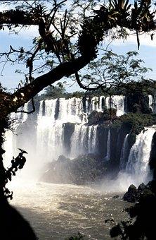 Waterfall, Brazil, Iguazú Waterfalls, Impressive