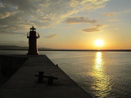 Sunset, Ancona, Italy, Sea, Water, Beach, Italian