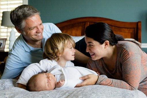 Family, Kids, Baby, Newborn, Together, Happy, Mother