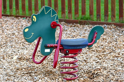Park, Rocking Horse, Horse, Toy, Animal, Kids, Fun