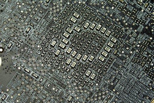 Pcb, Logicboard, Transistors, Motherboard, Processor