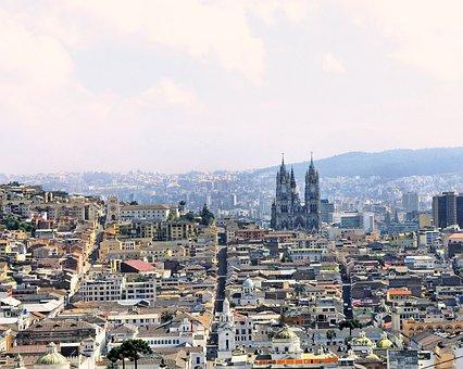 Ecuador, Quito, City, Panorama, Landscape, Urban