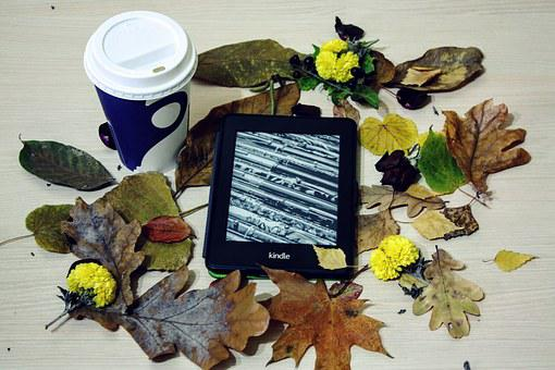 Kindle, Pepper White, Reading, Coffee, Technology