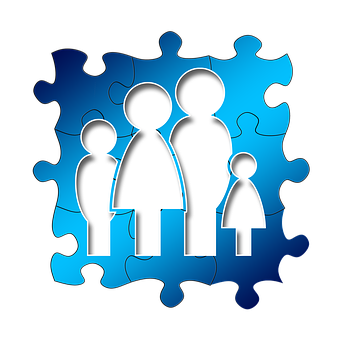 Family, Father, Mother, Puzzle, Share, Together, Child