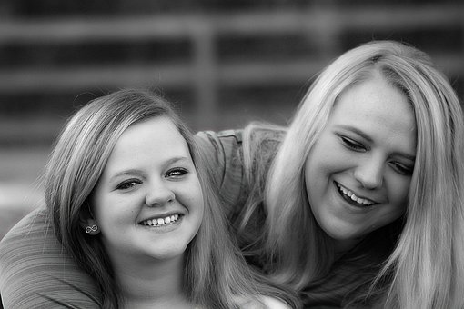 Sisters, Laughing, Love, Family, Sibling, Happy, Girl