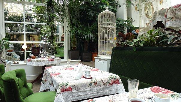 Lions, Orangery, Baczewski, Breakfast, Table, Green