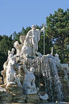 Sculpture, The Fountain Of Neptune, Schönbrunn Park