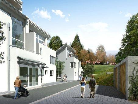 Multi-family Home, Villa, Rendering, Visualization