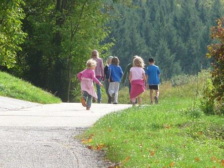 Family Outing, Children, More, Hiking, Nature, Walk