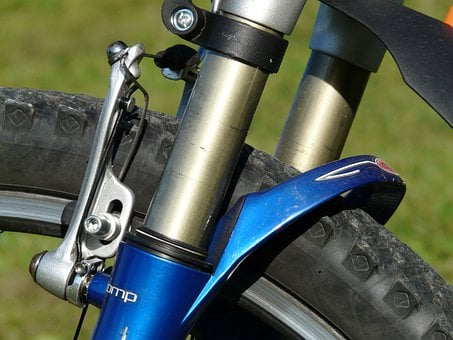 Suspension Fork, Damping, Wheel, Bike, Mountain Bike