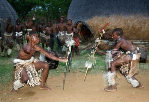 Stick Fight, Zulu Dancers, Hide Shields