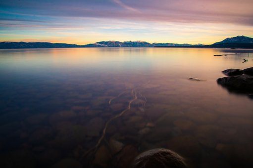 Sunset, Lake, Water, Nature, Sky, Sunrise, Travel