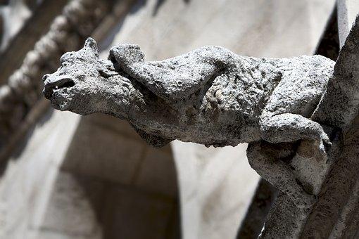 Sculpture, Stone, Monument, Architecture, Gargoyle