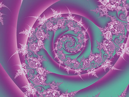 Pink, Swirls, Abstract, Traditional
