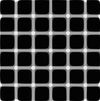 Illusion, Points, Black And White, Grid, Line-art