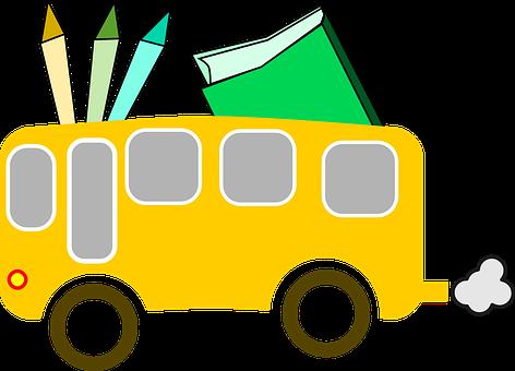 School Bus, School, Education, Bus, Students, Pupils