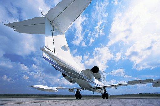 Aircraft, Sky, Aviation, Clouds, Airport, Transport
