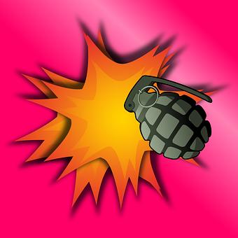 Grenade, Aggression, Army, Bang, Boom, Destruction