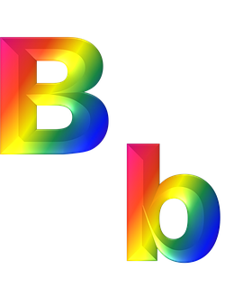 Letter, B, Abc, 3d, Alphabet, Rainbow, Gradient, Bright