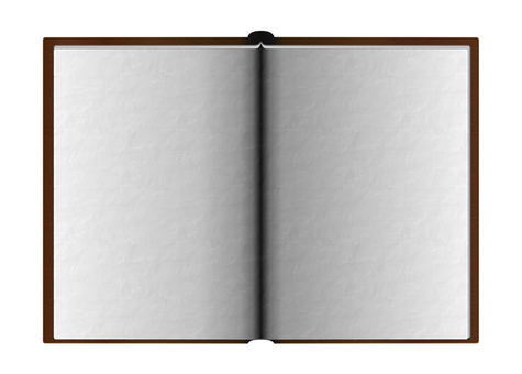 Opened, Book, White, Pages, Blank, Empty, Papers