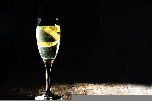 Champagne, Cocktail, French 75, Lemon, Gin, M, Alcohol