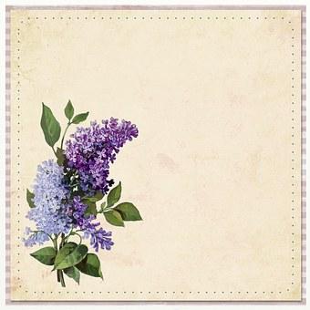 Flower, Background, Purple, Hydrangea, Vintage, Old