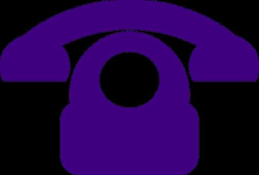 Telephone, Phone, Communication, Call, Symbol, Purple