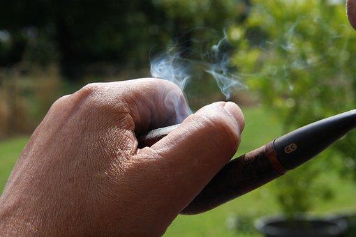 Tobacco, Pipe, Smoke, Person, Hand