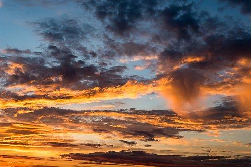 Sky, Clouds, Sunset, Landscape, Evening, Twilight