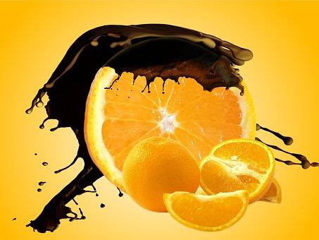 Chocolate, Orange, Vitamins, Sweet, Fruits, Dessert