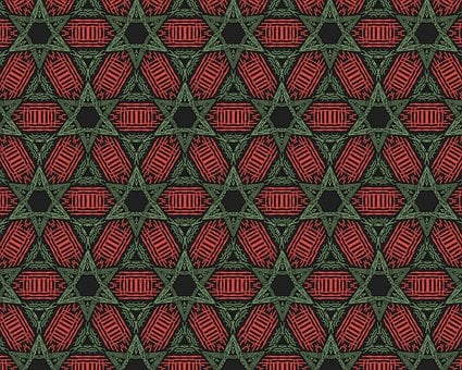 Abstract, Pattern, Wallpaper, Orange And Green, Stars