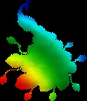 Peacock, Silhouette, Colorful, Animal Bird, Wildlife