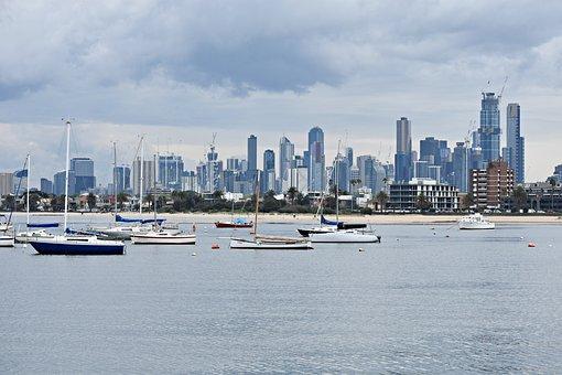 Skyline, Melbourne, St Kilda, Architecture, Australia