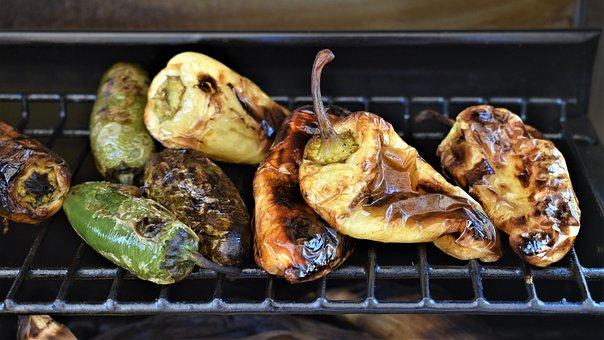 Grilled Vegetables, Barbeque, Sweet Pepper, Summer