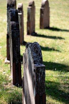 Grave Stones, Tombstones, Cemetery, Rock Lichen, Stone