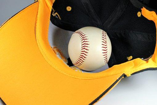 Baseball, Cap, Yellow, Play, Fans, Fanartikel