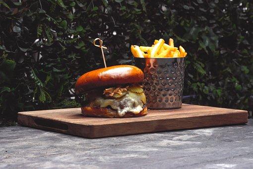 Burger, Food, Kitchen, Hamburger, Lunch, Meat
