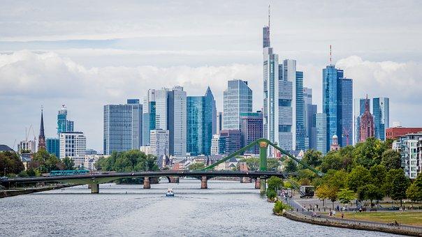 Frankfurt, Skyline, Bank Metropolis