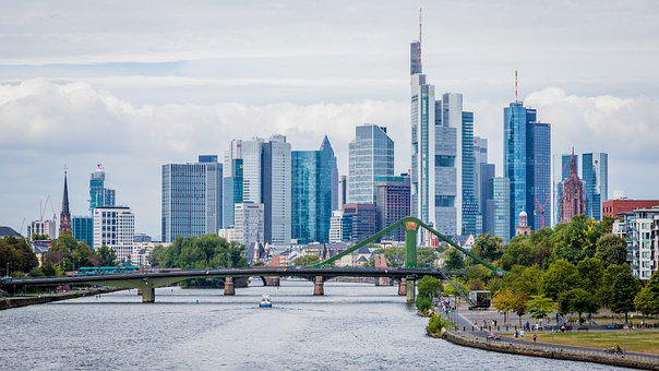 Frankfurt, Skyline, Bank Metropolis, Financial, Hesse