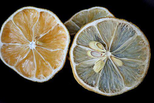 Fruit, Lemons, Citrus, Dried, Dehydrated
