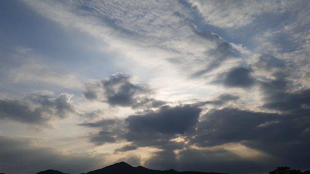 Sky, Clouds, Sunset, Nature, Beach, Landscape, Heaven