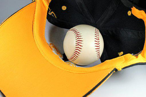 Baseball, Cap, Yellow, Play, Fans
