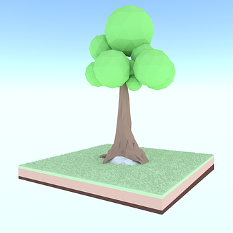 Tree, Lowpoly, Polygonal, Nature, 3dmodel, 3d