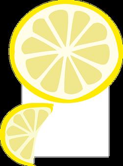 Slice, Fruit, Yellow, Lemon, Wedge, Summer, Acidic