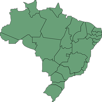 Brazil, Map, South America, States, Political Divisions