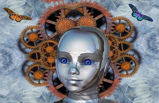Gear, Robot, Butterfly, Technology, Forward, Science