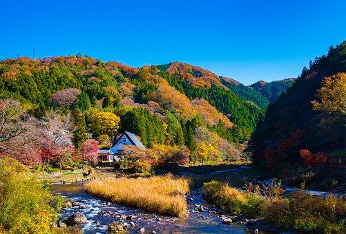 Landscape, Valley, Japan, Nikon, Tamron, 35mm, Fall