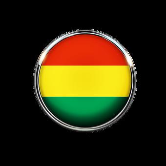 Bolivia, Flag, Circle, South America